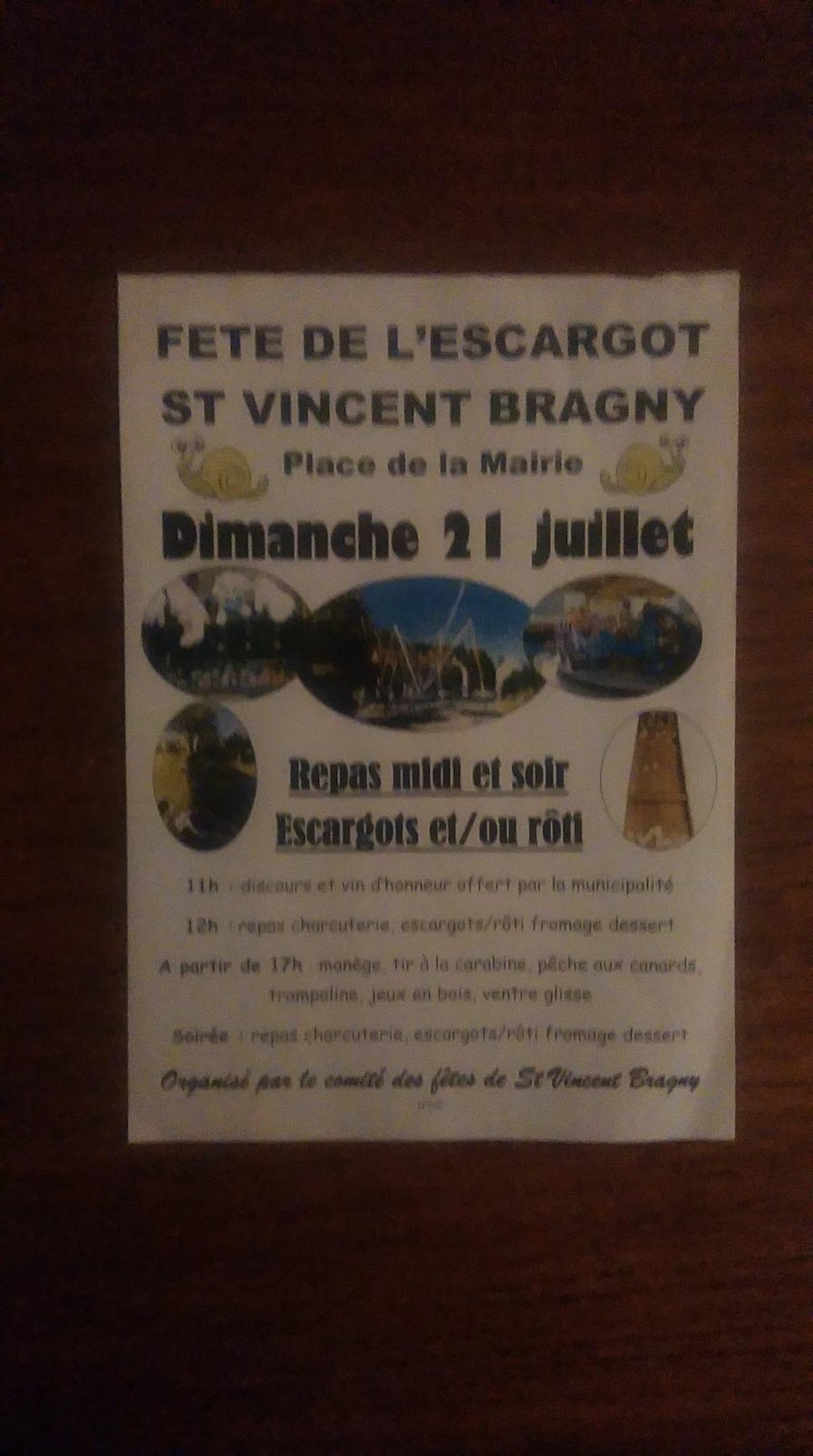 Fete De L Escargot : Fete Patronale A Saint Vincent Bragny à Jeux Gratuit Escargot