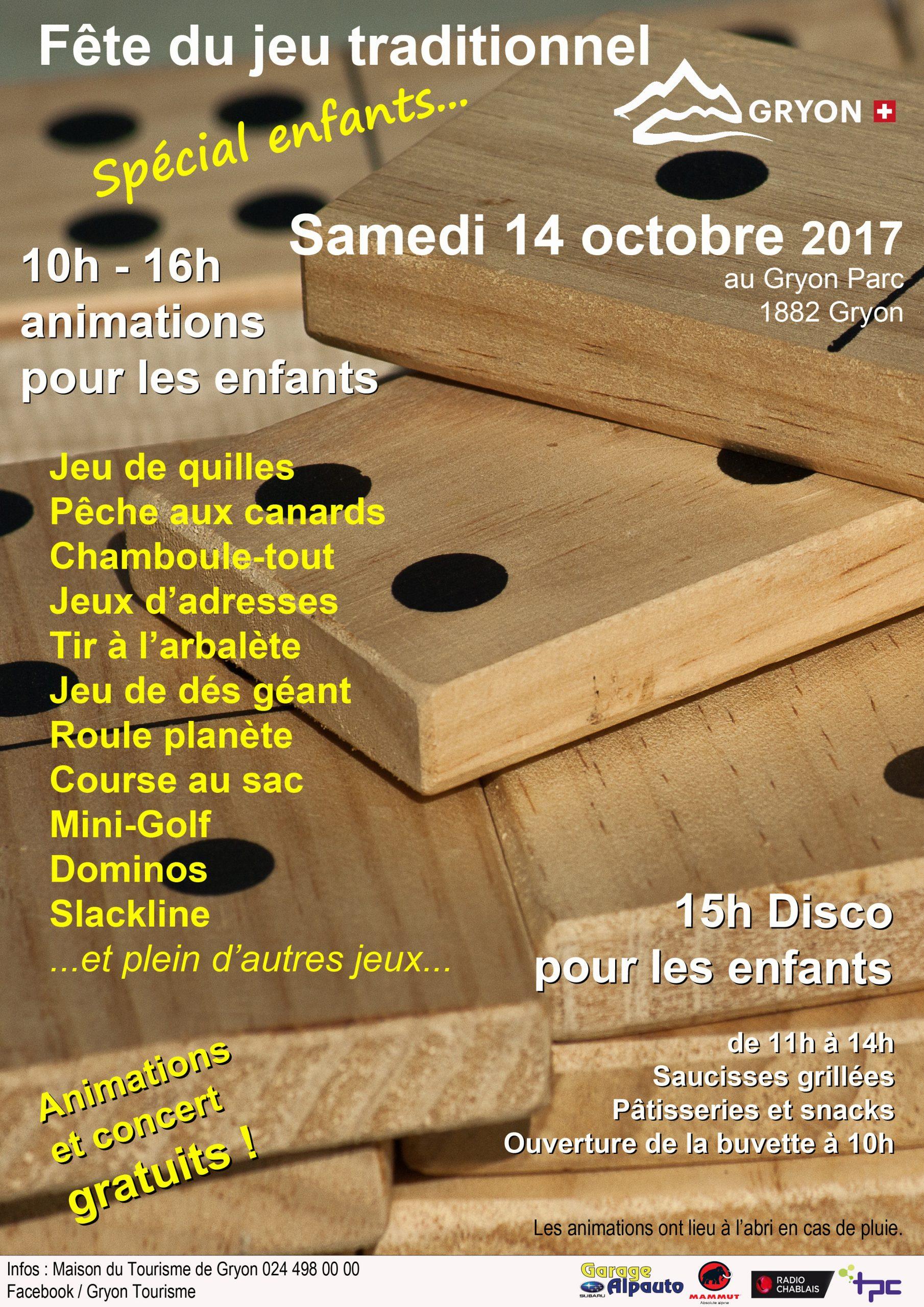 Fête Du Jeu Traditionnel De Rue À Gryon - 14.10.2017, 10H dedans Plein De Jeux Gratuits