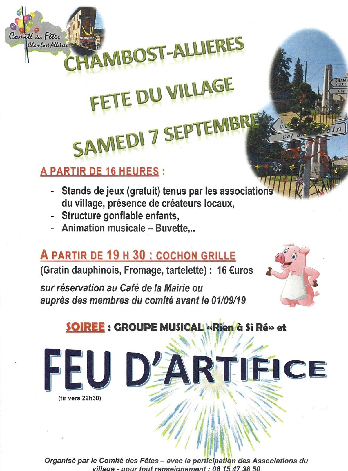 Fete Du Village : Fete, Carnaval, Kermesse A Chambost Allieres serapportantà Jeux Gratuit De Village