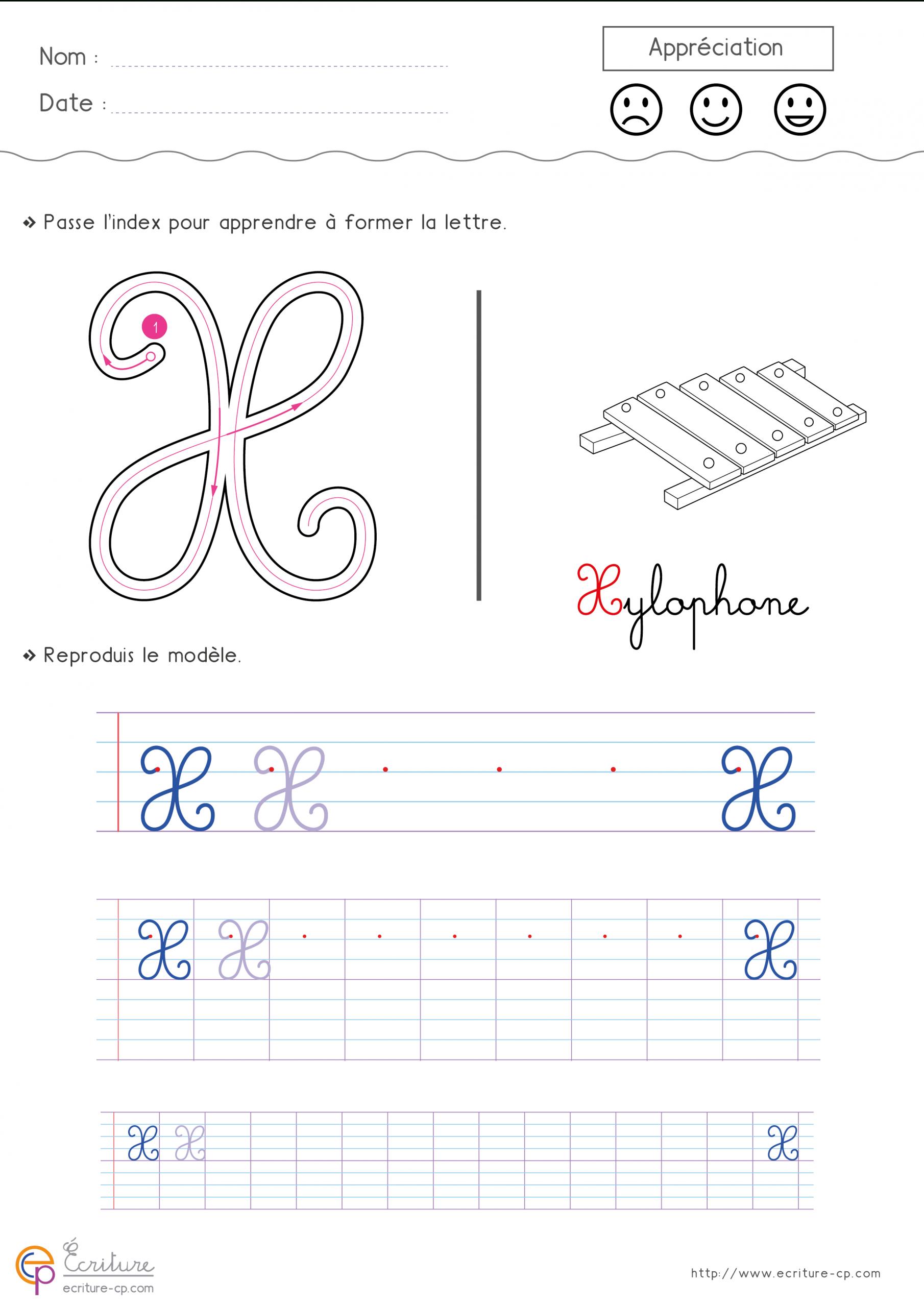 Feuille-D-Ecriture-Cp-Ecrire-La-Lettre-X-Majuscule-Hn8Y destiné Feuille D Ecriture Maternelle À Imprimer
