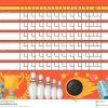 Feuille De Score De Bowling Tableau Indicateur Vide De tout Jeux Gratuits De Bowling