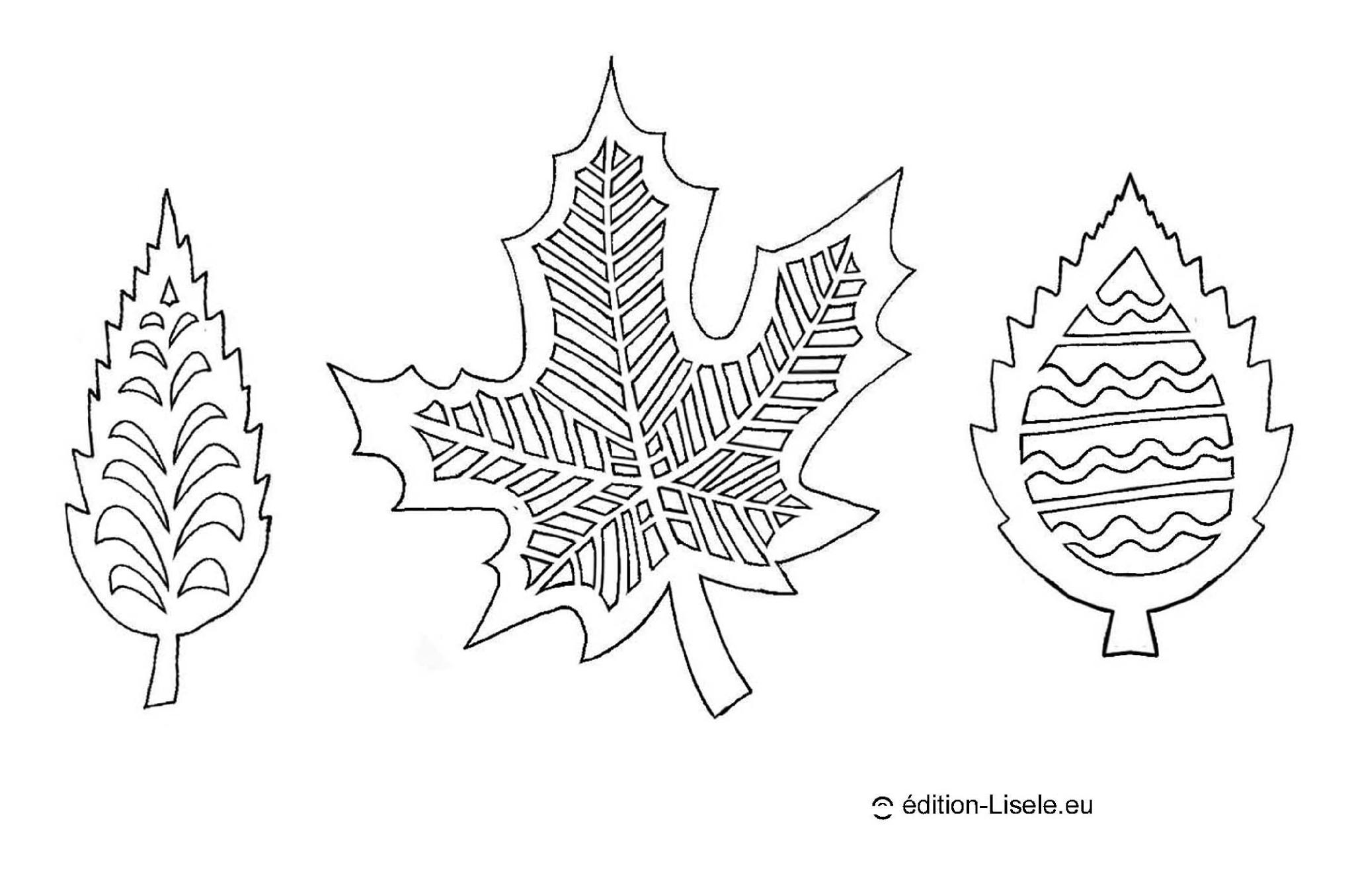 Feuilles D'automne  - Dans Les Petits Papiers De Lisele concernant Decoupage A Imprimer