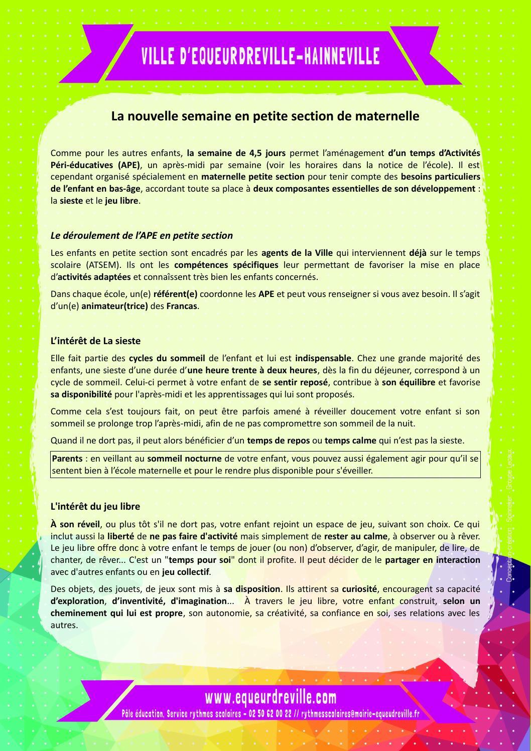 Fiche Ape Petite Section By Ville Equeurdreville-Hainneville pour Jeux Pour Petite Section