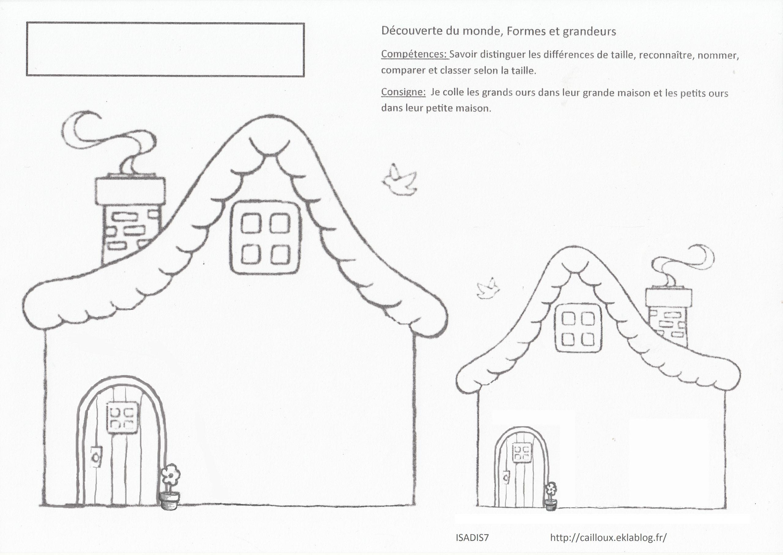 Fiche Bilan Petite Section: Distinguer Petit Et Grand - La à Exercice Maternelle Petite Section