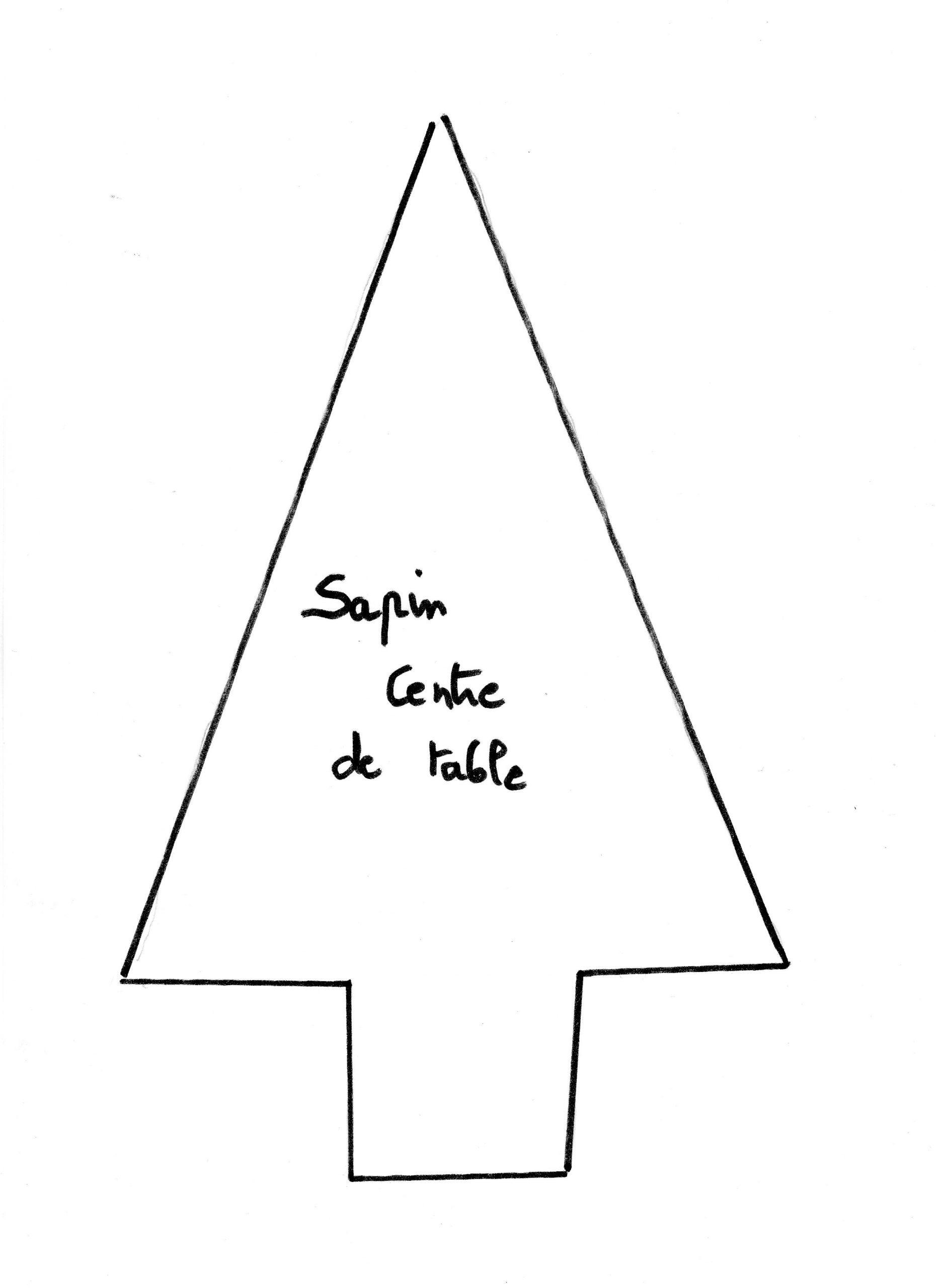 Fiche De Bricolage N°45 dedans Gabarit Sapin De Noel