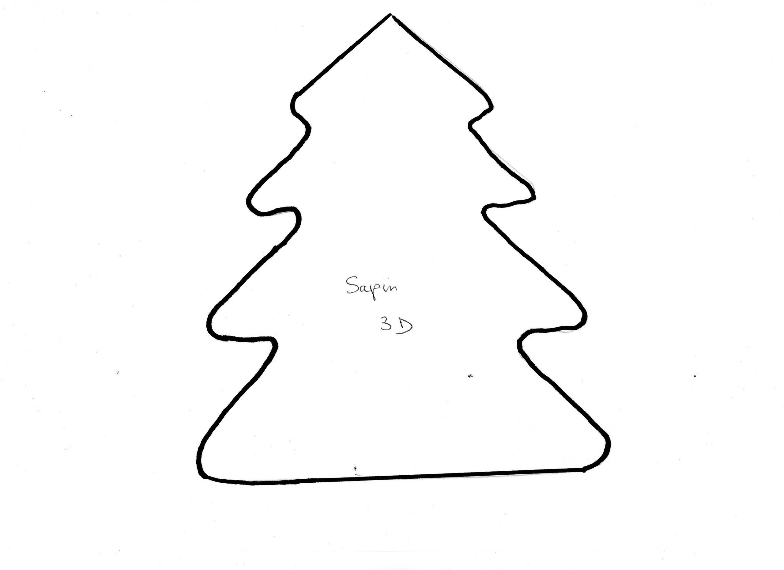 Fiche De Bricolage N°45 destiné Gabarit Sapin De Noel