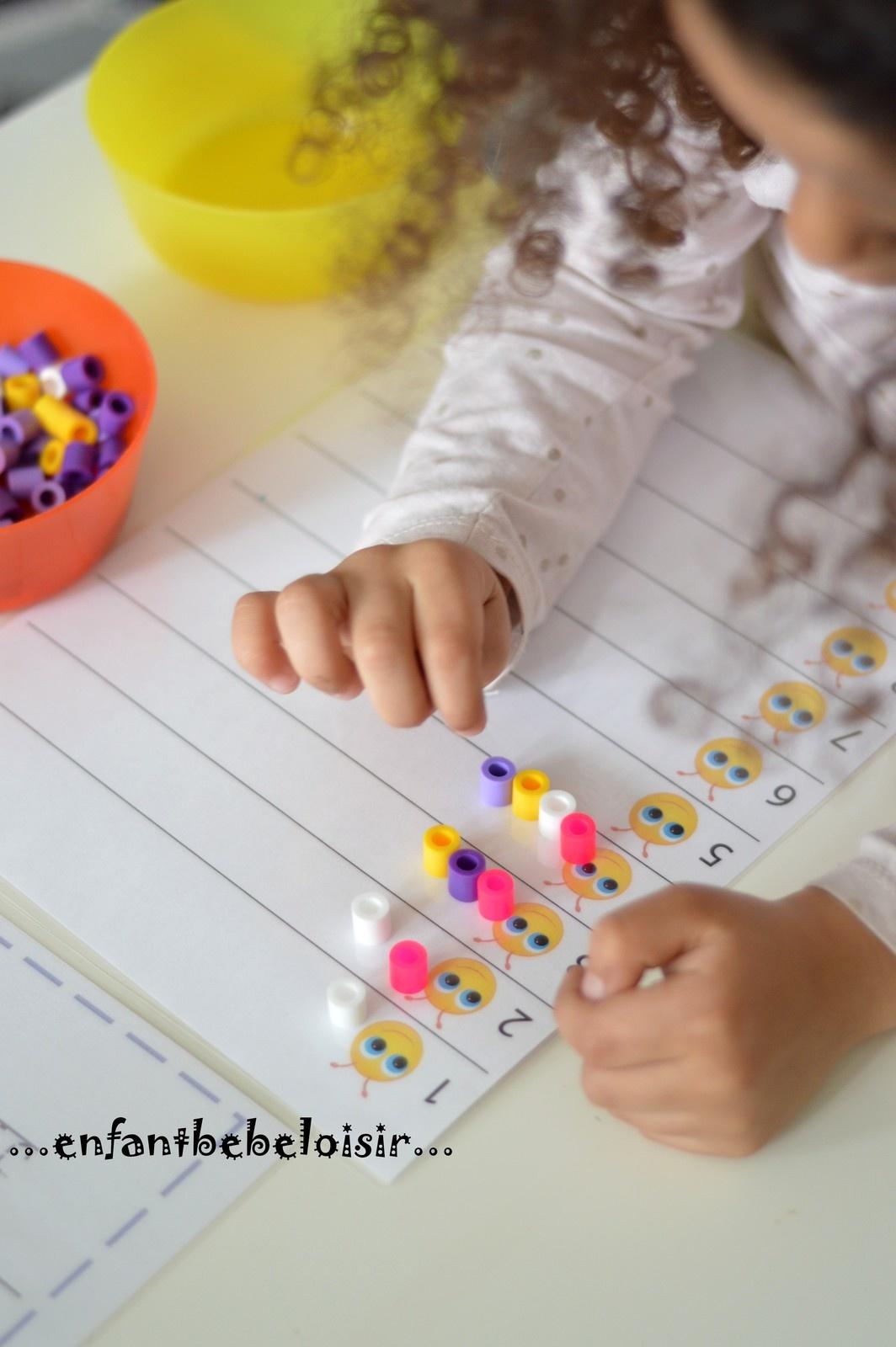 Fiche Exercice À Compter - Pdf À Imprimer - Enfant Bébé Loisir destiné Fiche Petite Section À Imprimer