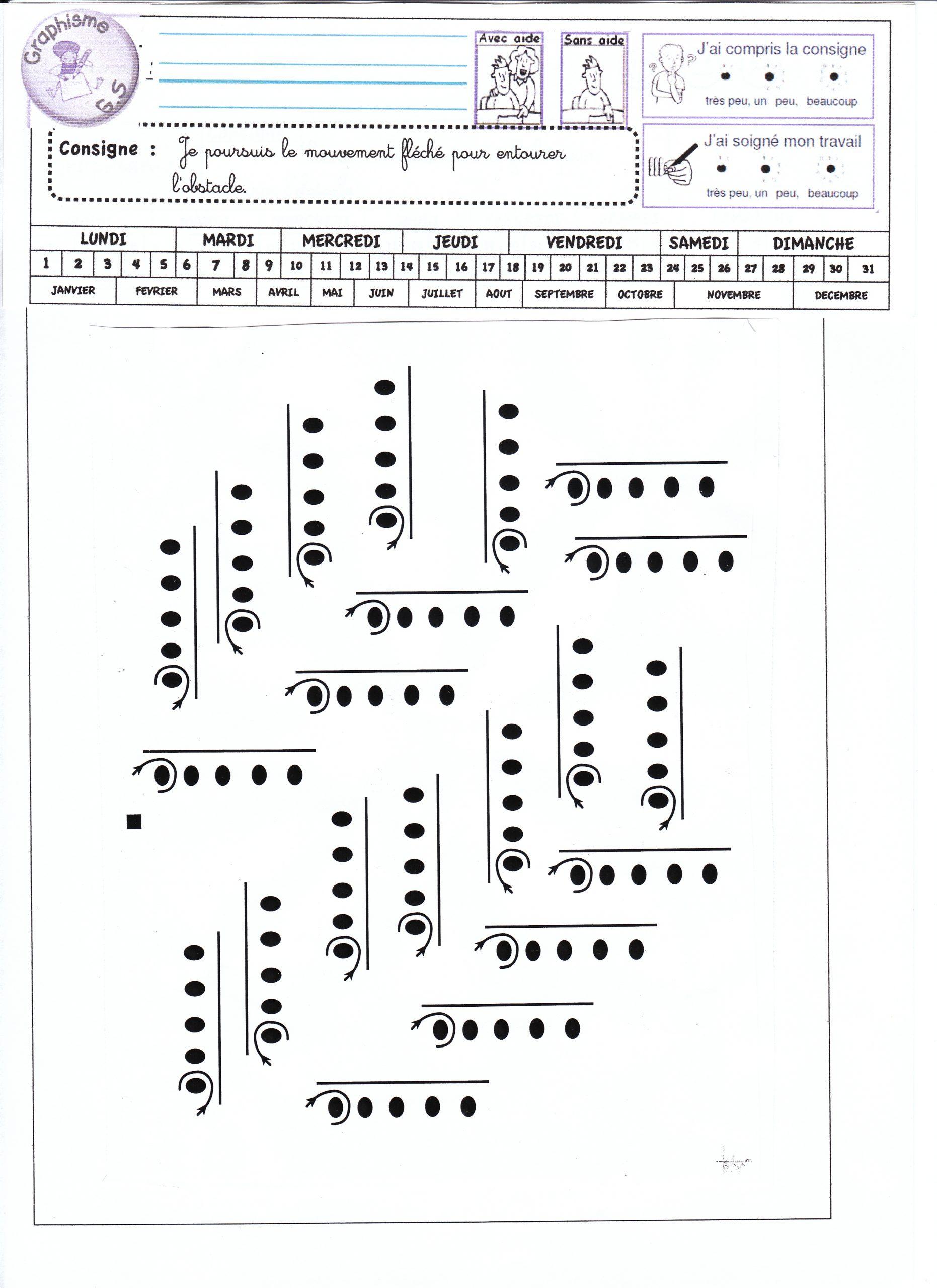 Fiches De Graphisme Gs Période 1 Et 2 - La Classe De Luccia ! pour Fiche Graphisme Ms