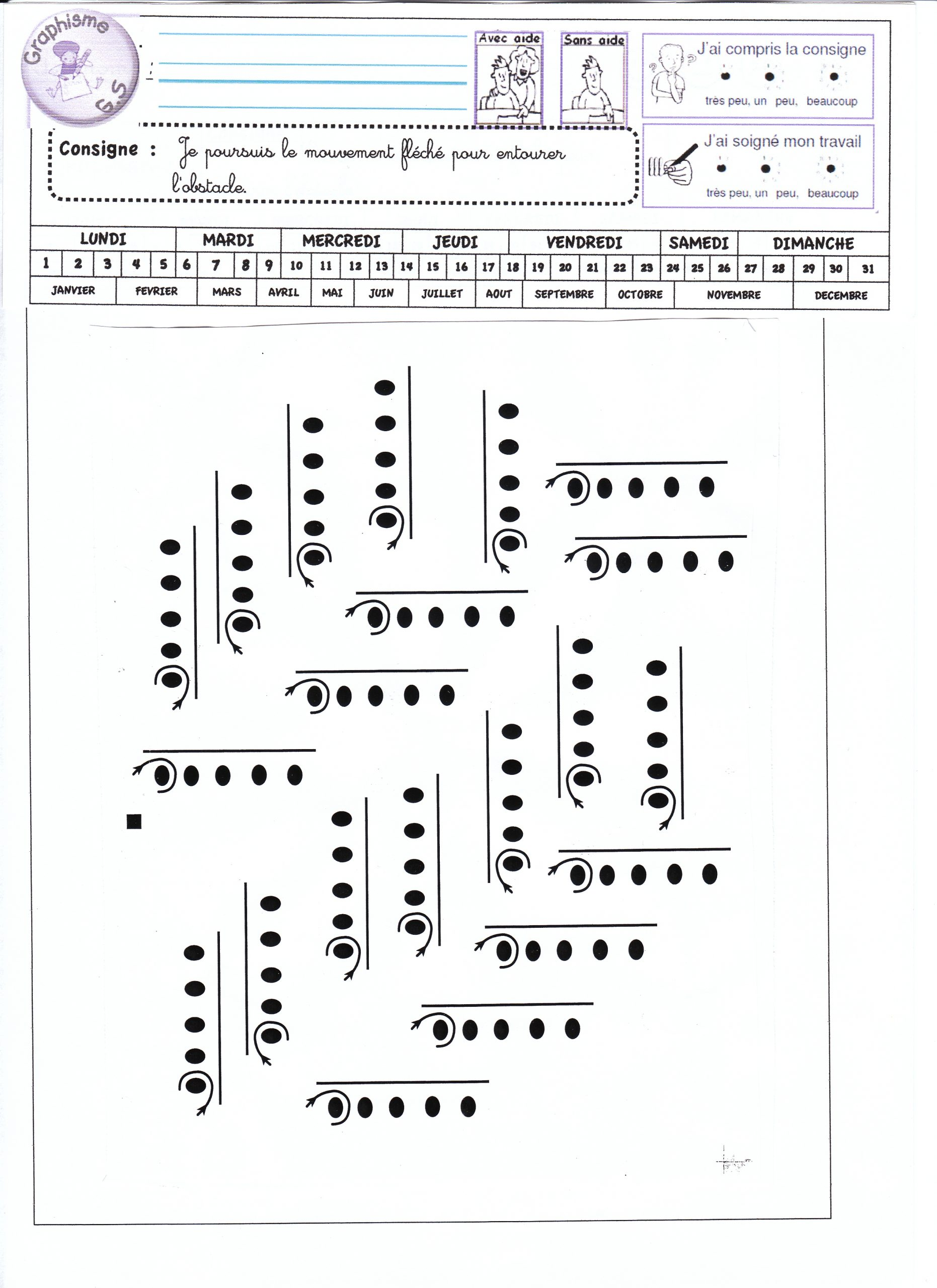 Fiches De Graphisme Gs Période 1 Et 2 - La Classe De Luccia ! pour Revision Grande Section