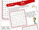 Fiches De Vocabulaire à Mots Fléchés Facile À Imprimer