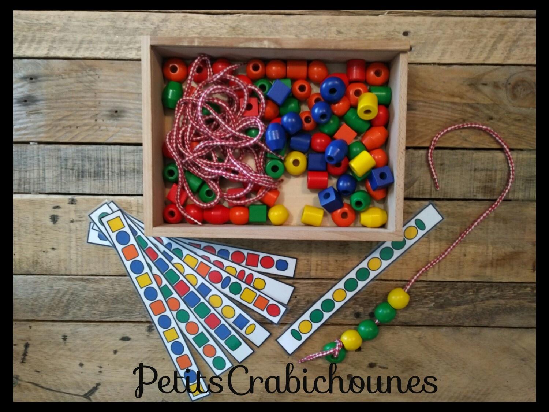 Fiches Modèles De Perles À Enfiler, Téléchargement Gratuit dedans Jeux Maternelle Gratuit