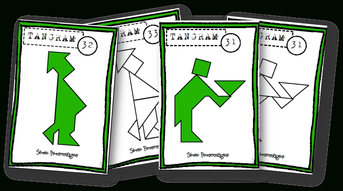 Fiches Modèles Tangram - Autonomie~ - Lin', Maikresse Malgré destiné Tangram Modèles Et Solutions