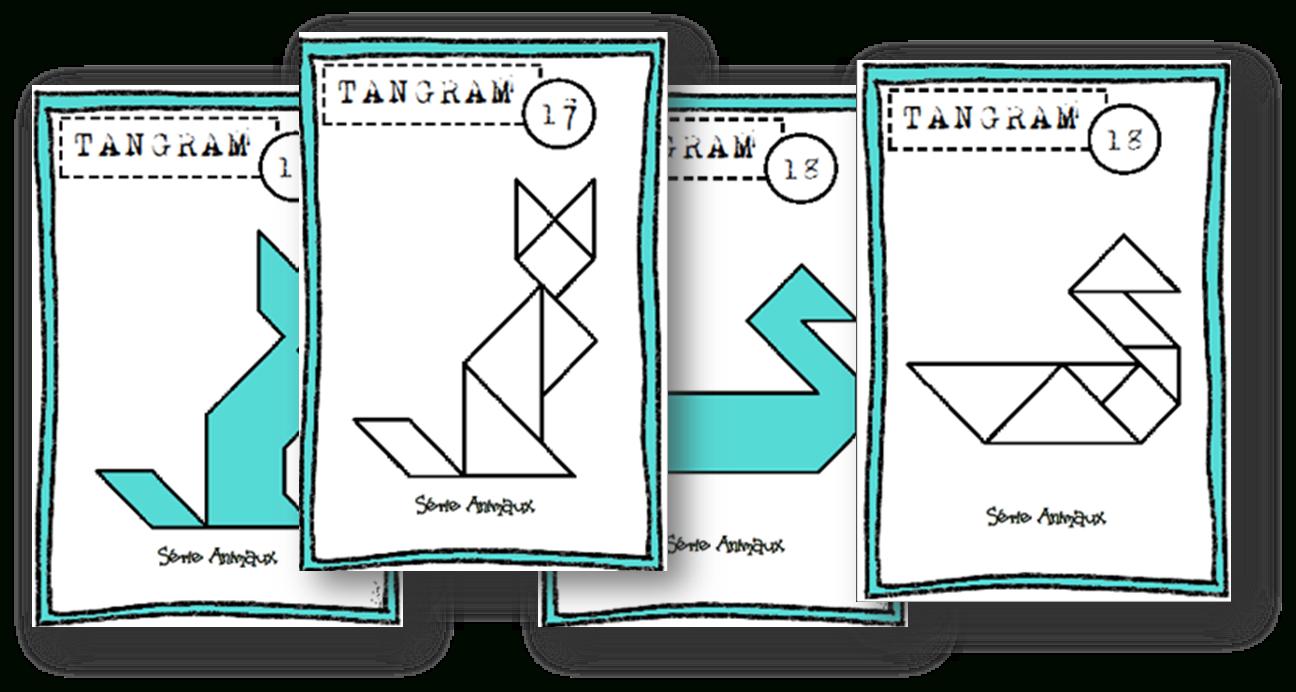 Fiches Modèles Tangram - Autonomie~ - Lin', Maikresse Malgré serapportantà Tangram Modèles Et Solutions