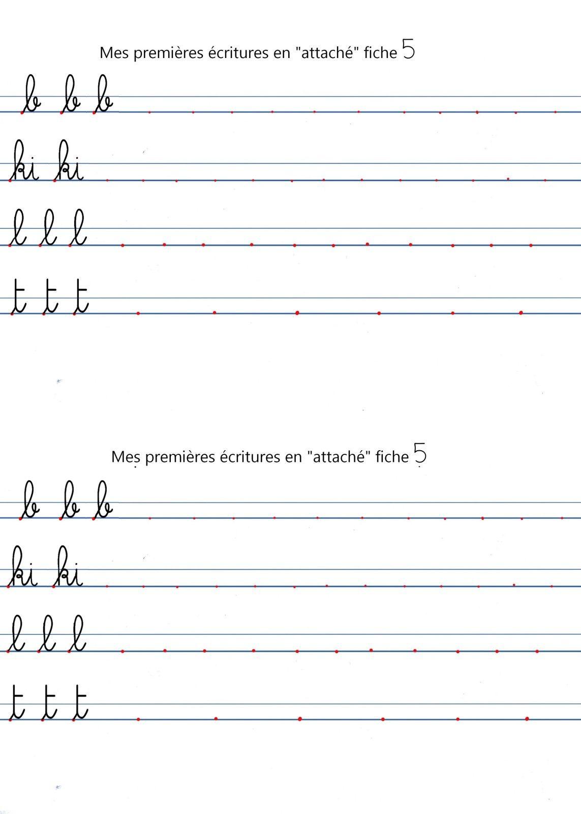 Fiches Pour Ecriture-En-Gs En Interligne | Apprendre À avec Apprendre À Écrire L Alphabet En Maternelle