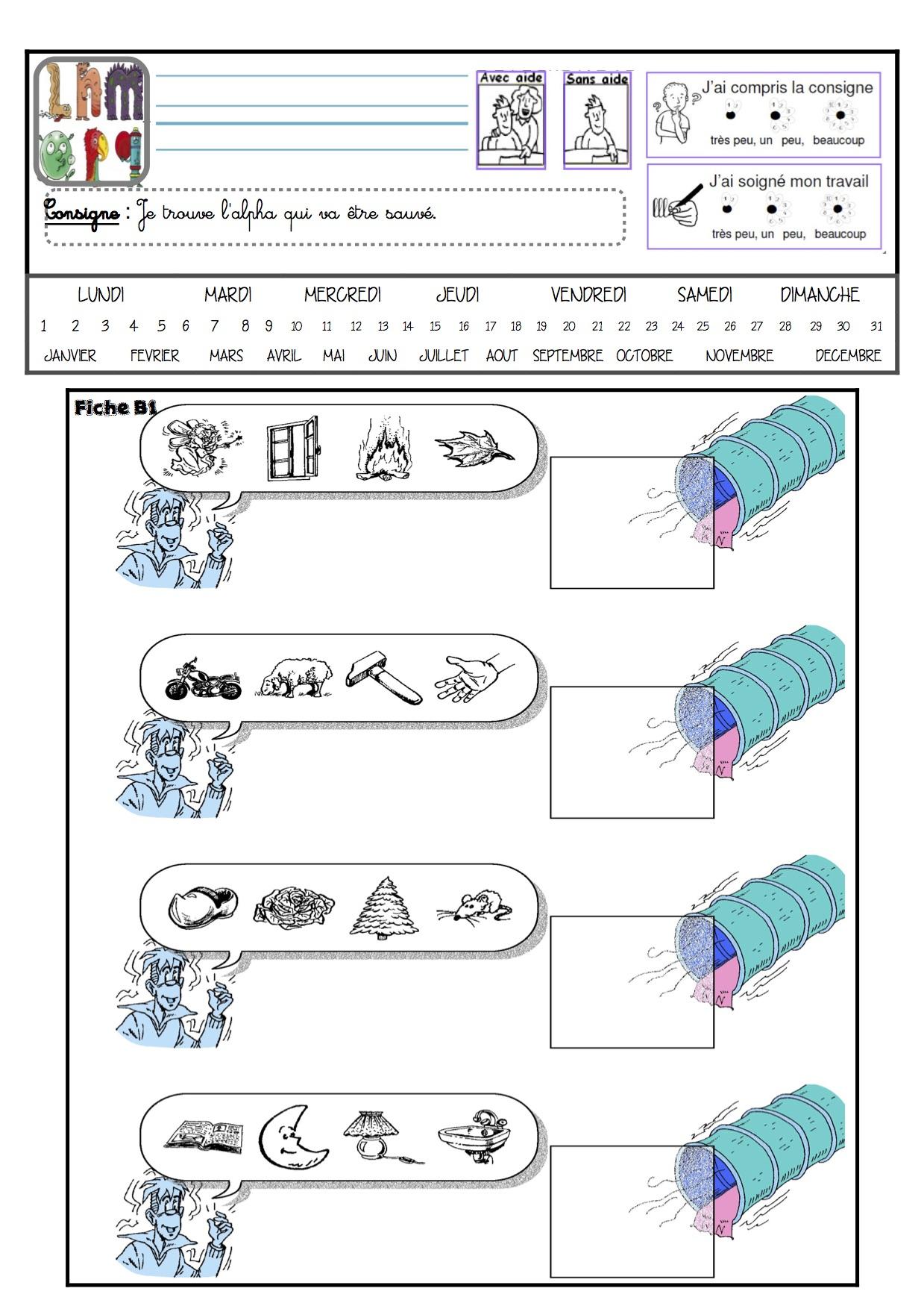 Fichier Alphas A À D Gs - La Classe De Luccia ! pour Exercice De Gs A Imprimer