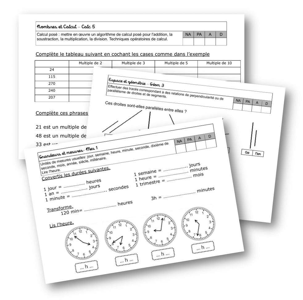 Fichier D'évaluation Maths Cm1 – La Classe De Mallory avec Exercice Cm2 Gratuit