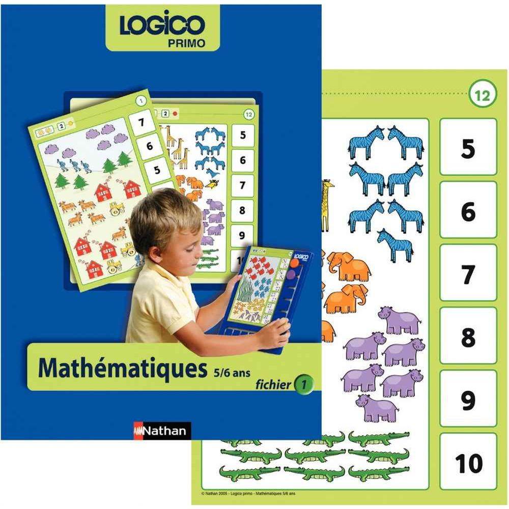 Fichier Logico Primo Mathématiques Pour Les Grandes Sections encequiconcerne Jeux Educatif 5 6 Ans