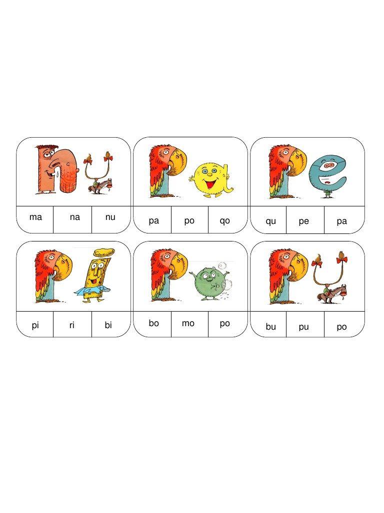 Fichier Pdf Syllabes N P.pdf | Les Alphas Maternelle, Jeux à Jeux Didactiques Maternelle