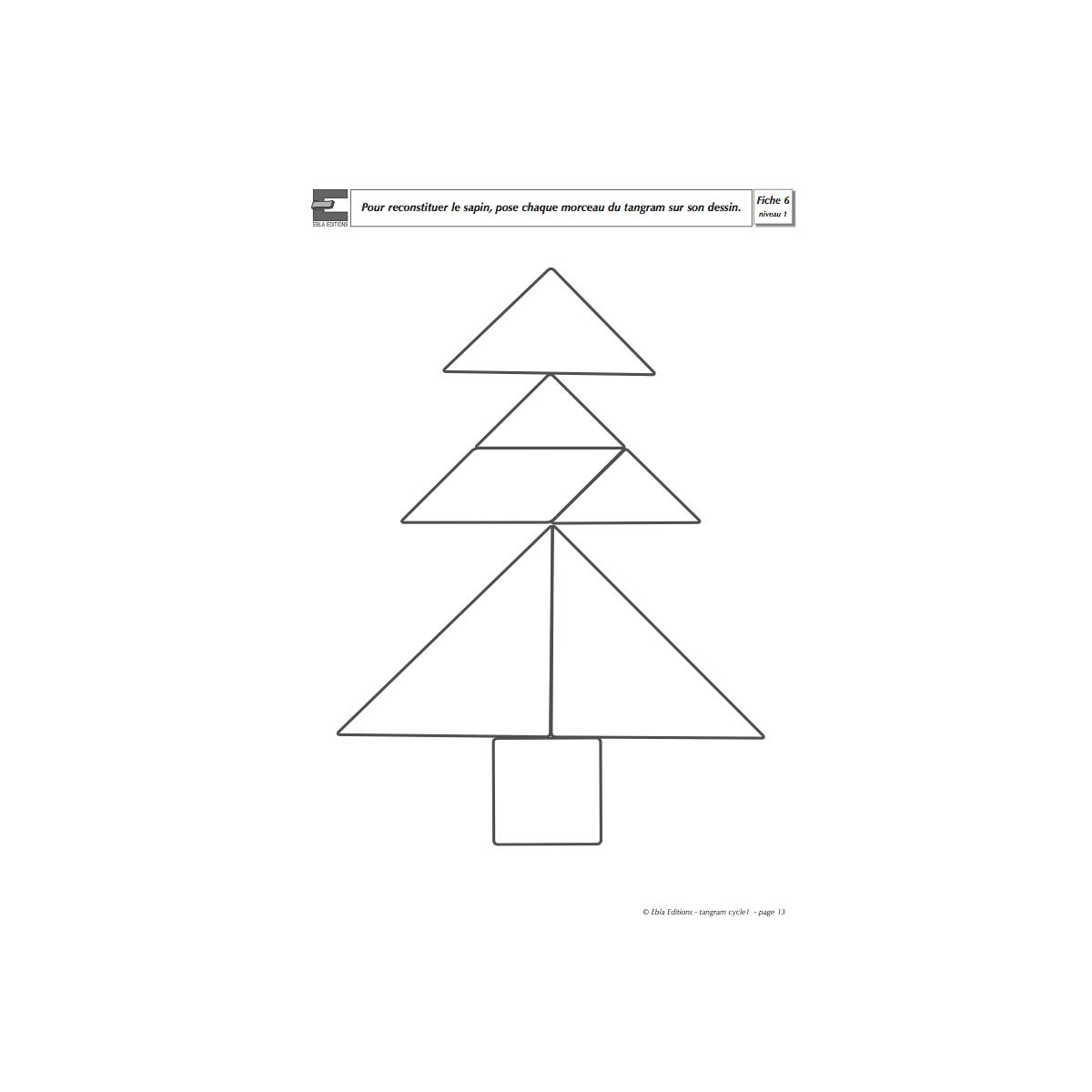 Fichier Tangram 3/5 Ans - Cycle 1 - Ebla Editions dedans Tangram A Imprimer