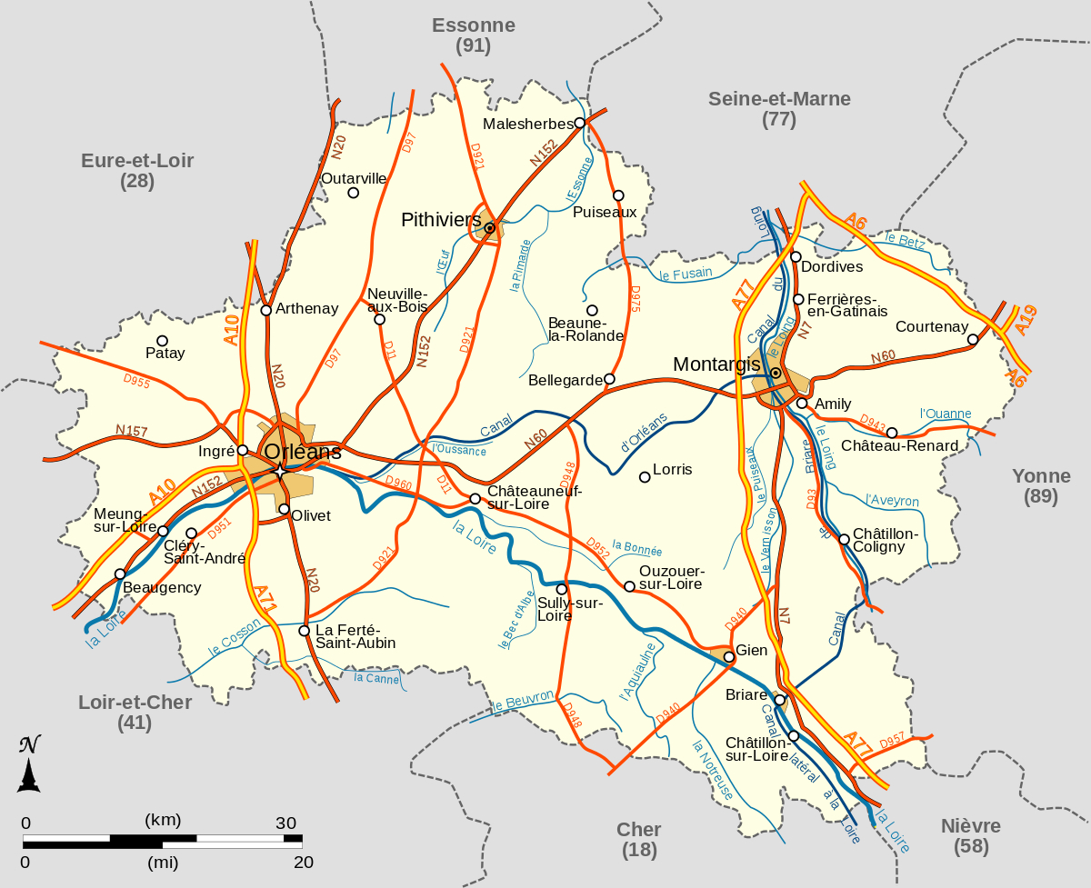 Fichier:carte Du Loiret.svg — Wikipédia destiné Département 13 Carte