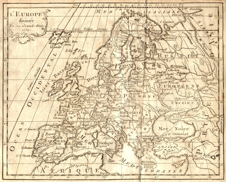 Fichier:carte Europe 1763 — Wikipédia avec Carte Géographique De L Europe
