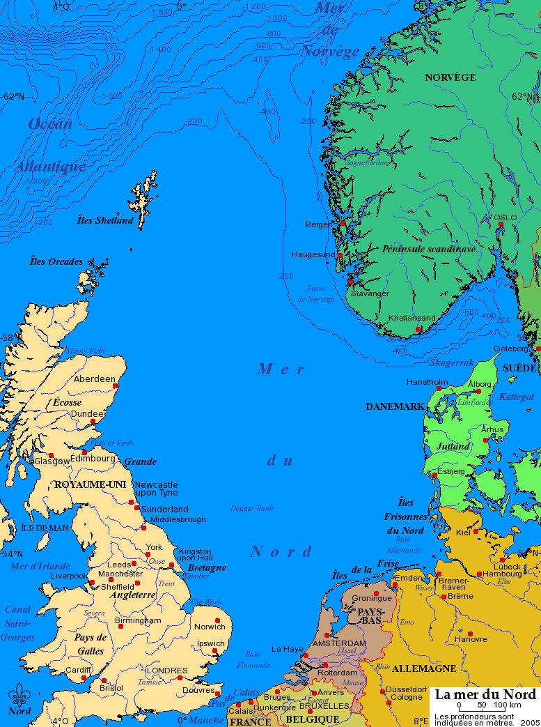 Fichier:carte Mer Du Nord — Wikimini, L'encyclopédie encequiconcerne Carte De France Pour Enfant
