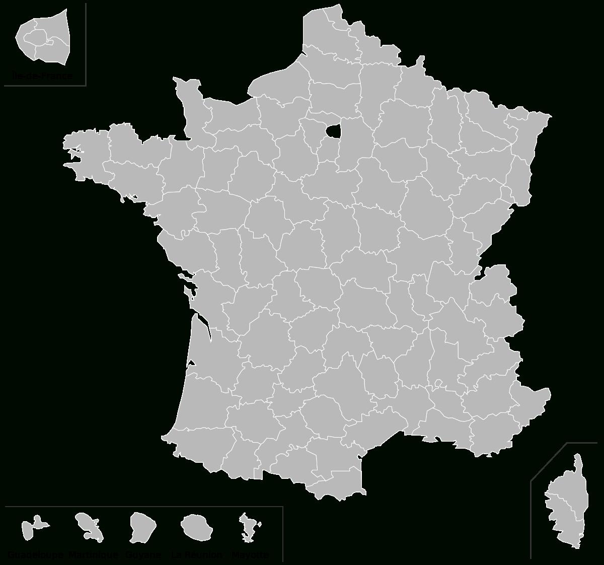 Fichier:carte Vierge Départements Français Avec Dom.svg tout Carte De La France Vierge
