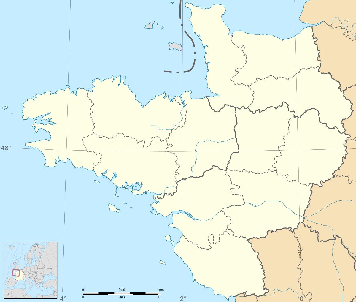 Fichier:france - Grand Ouest - Map-Blank.svg — Wikipédia à Carte De La France Vierge