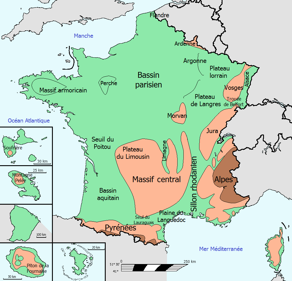 Fichier:france Relief — Wikiversité concernant Carte Fleuve France