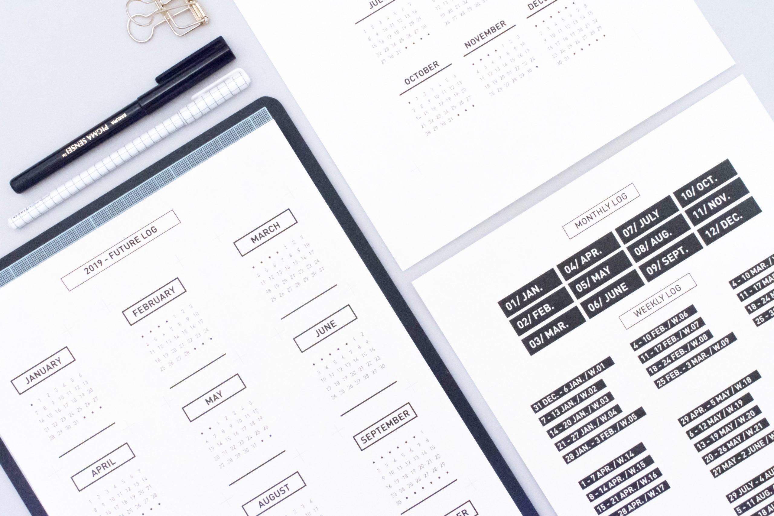 Fichiers Gratuits 2019 | Minimal.plan | Plan . Achieve . Repeat intérieur Planning Annuel 2018