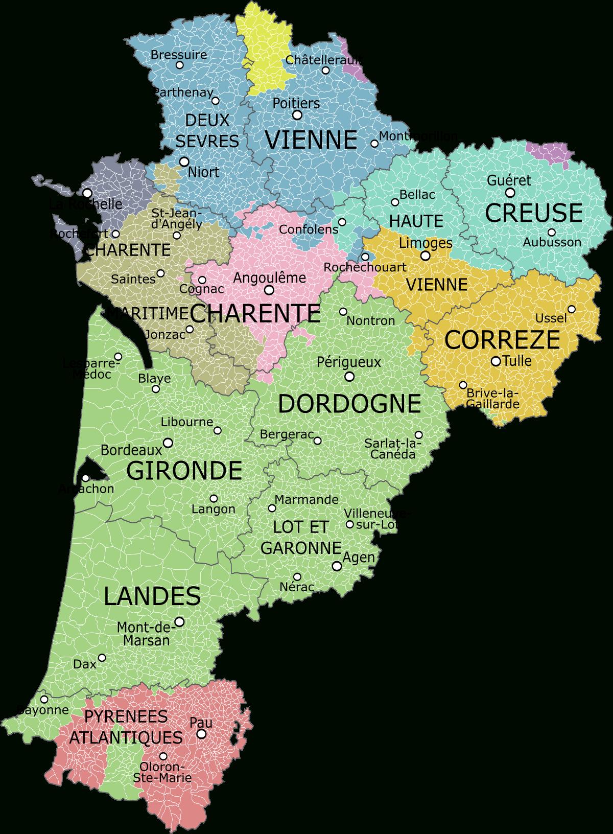File:aquitaine-Limousin-Poitou-Charentes Et Provinces.svg concernant Carte Nouvelle Region