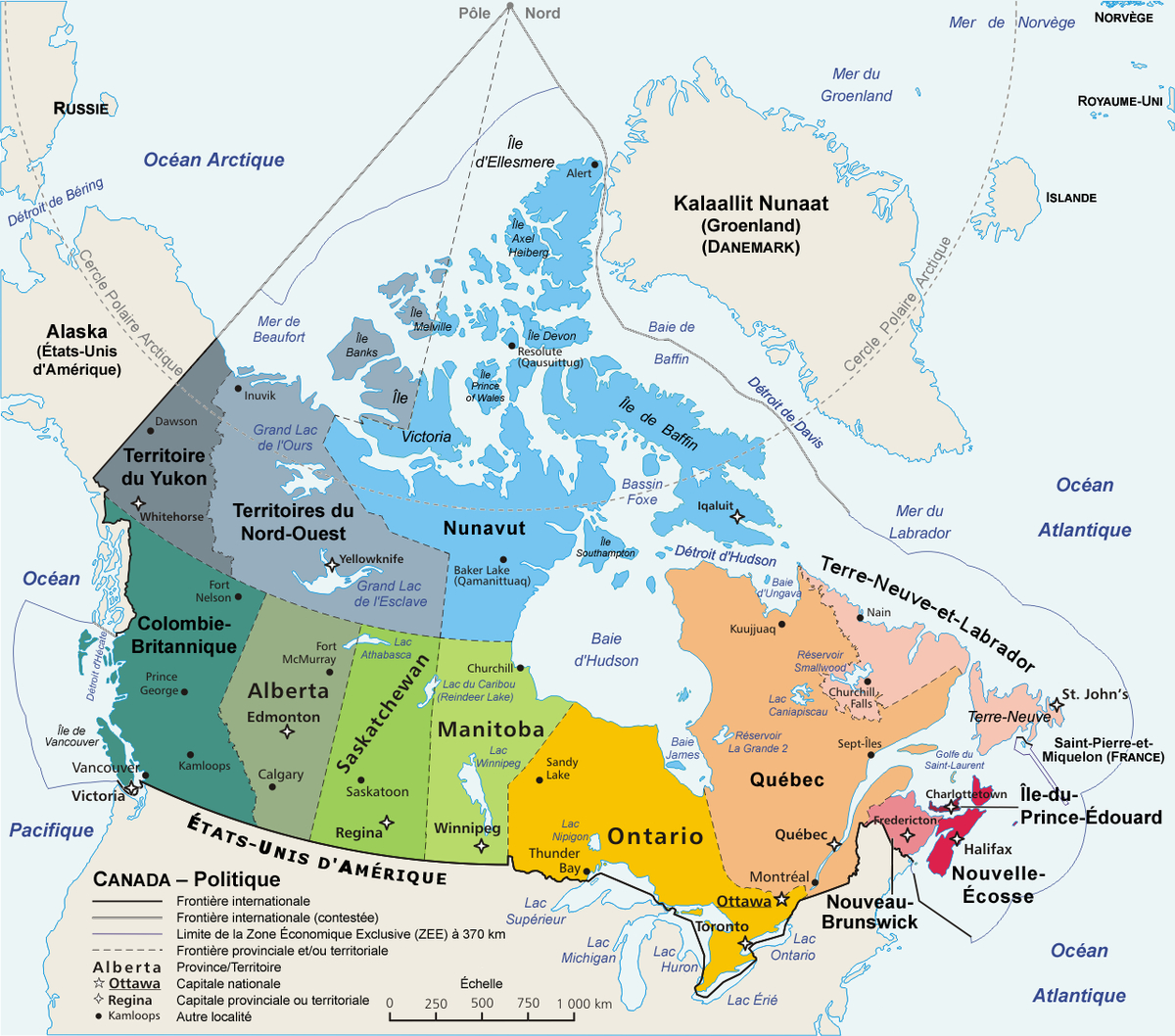 File:carte Administrative Du Canada - Wikimedia Commons dedans Carte De La France Avec Ville