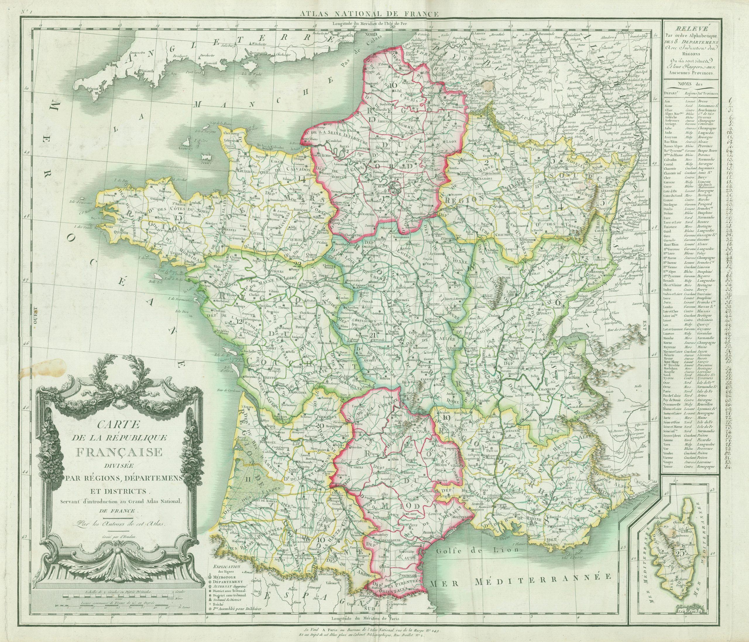 File:carte De La République Française Divisée Par Régions destiné Département 13 Carte