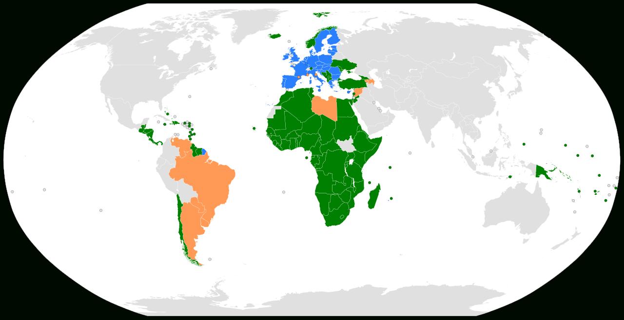 File:carte Des Accords D'association Conclus Par L'union concernant Carte Union Europeene