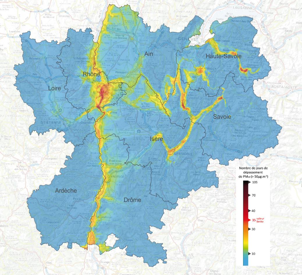File:carte Des Particules Fine Pm10 Modélisée Sur La Région dedans Nombre De Region