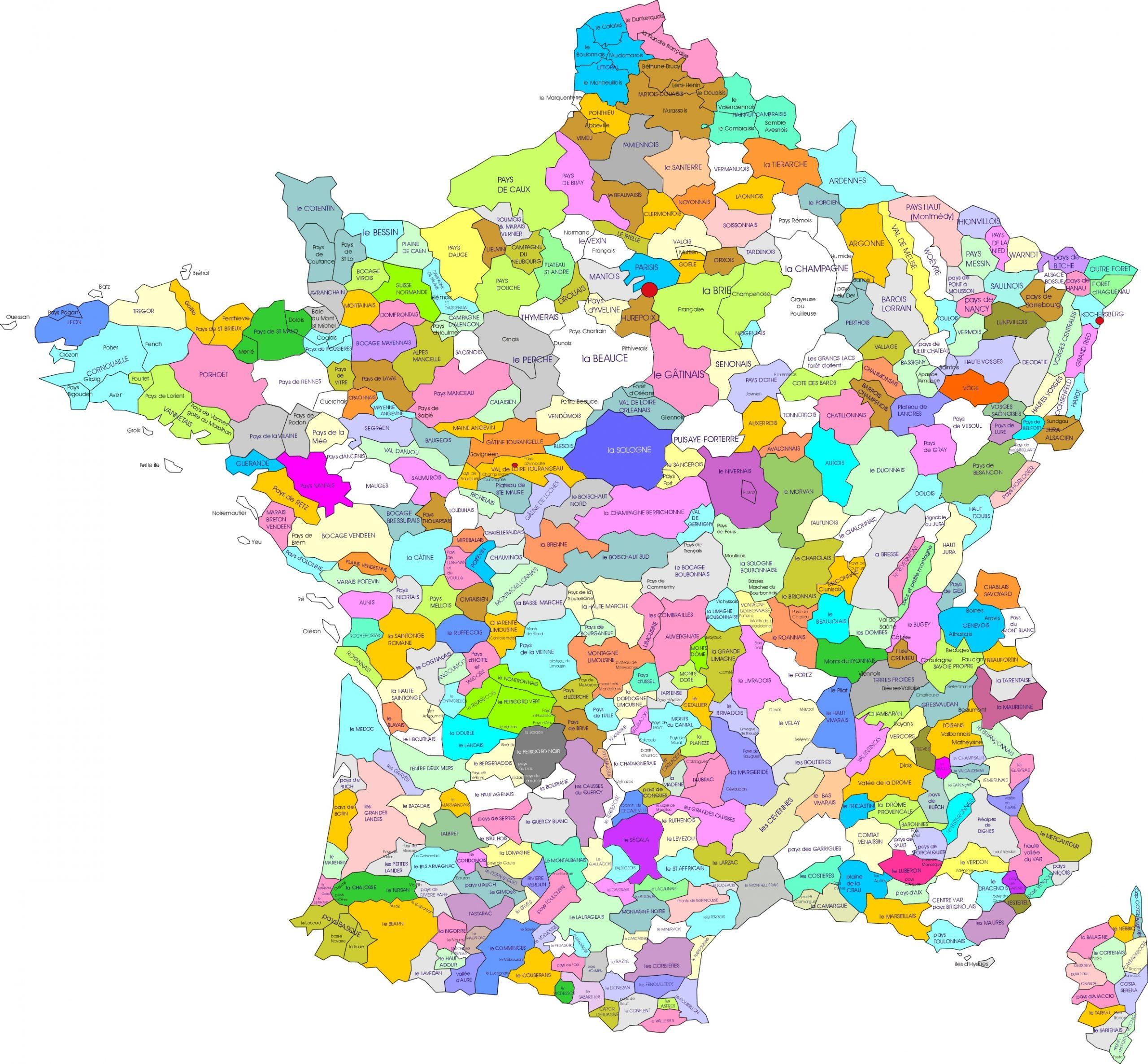 File:carte Des Regions Naturelles De France - Wikimedia encequiconcerne Carte Des Régions De La France