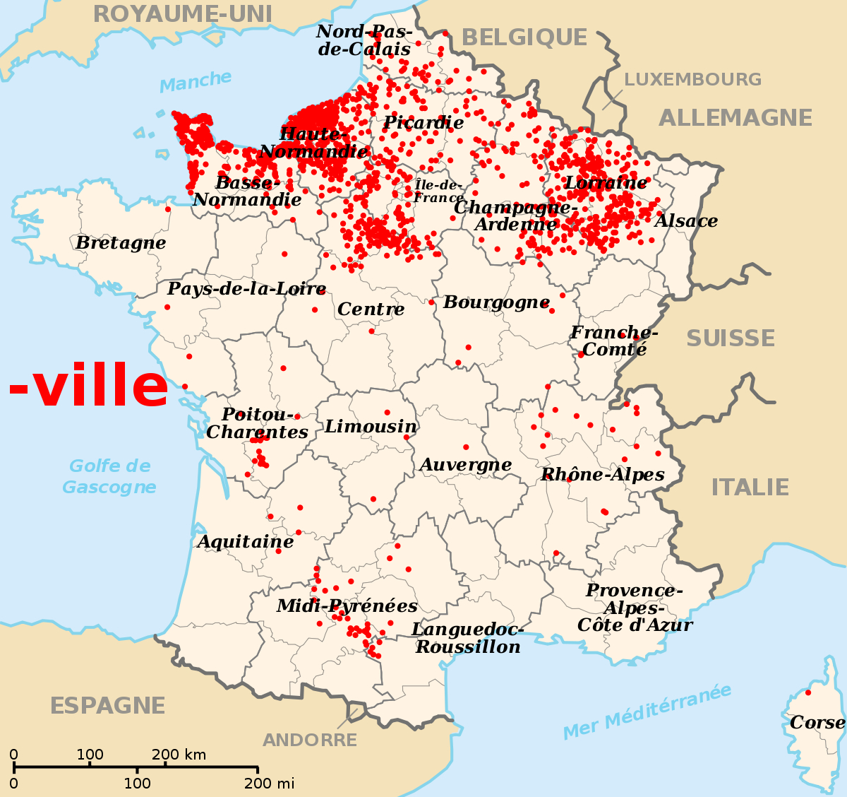 File:communes Of France Ending With -Ville.svg - Wikimedia intérieur Carte De La France Avec Ville