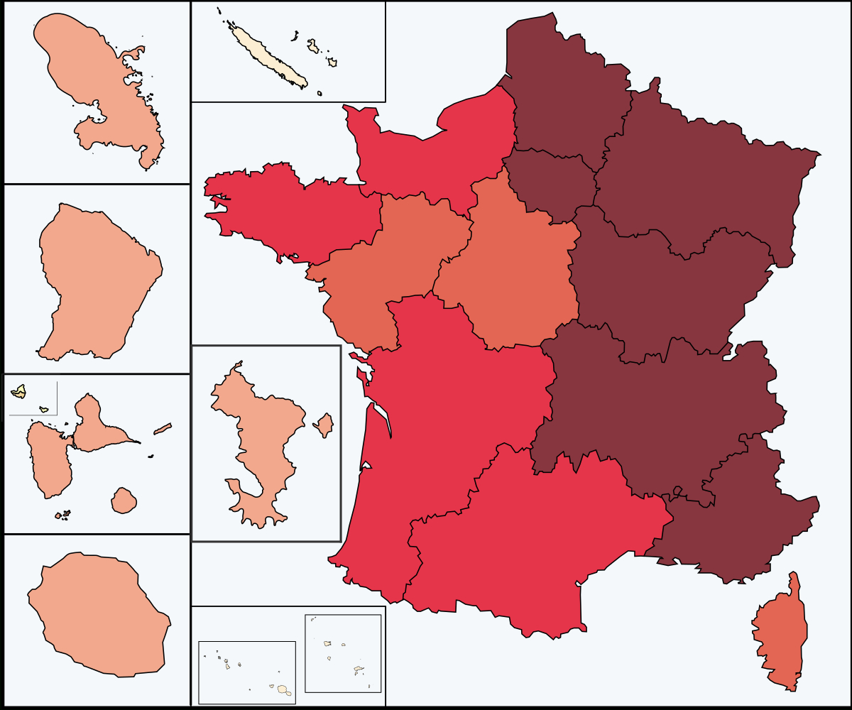 File:covid-19 Outbreak Cases In France 13 Regions.svg concernant 13 Régions Françaises