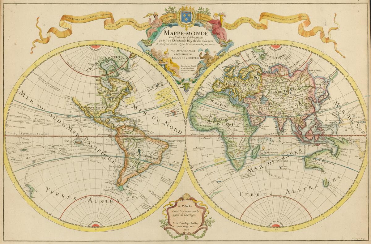 File:delisle - Mappe-Monde - Wikimedia Commons avec Mappe De France