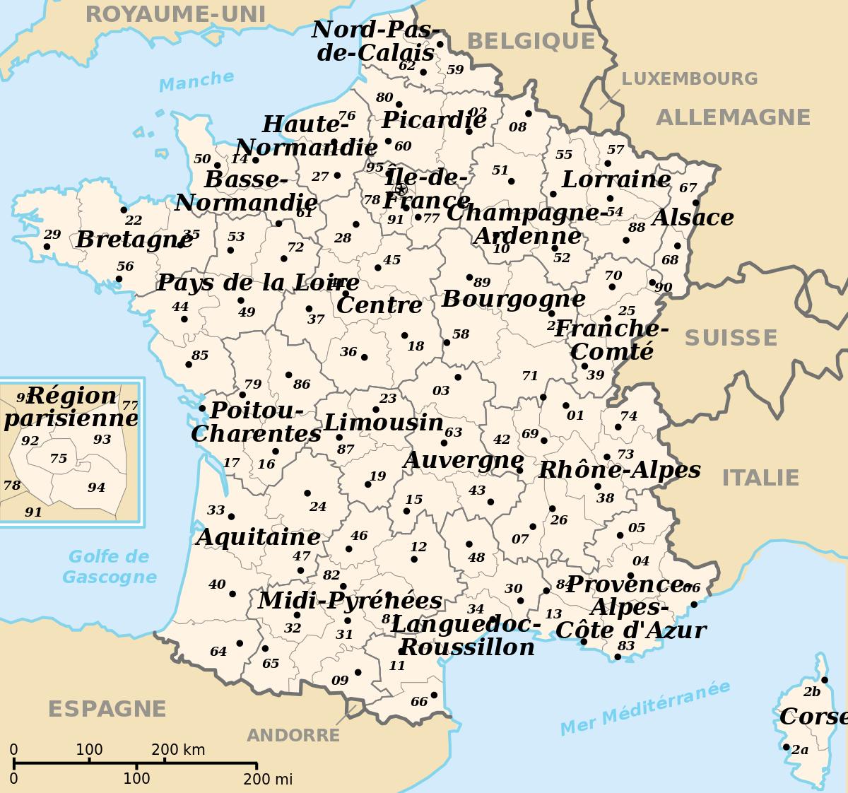 File:départements Et Régions De France.svg - Wikimedia Commons pour Départements Et Régions De France