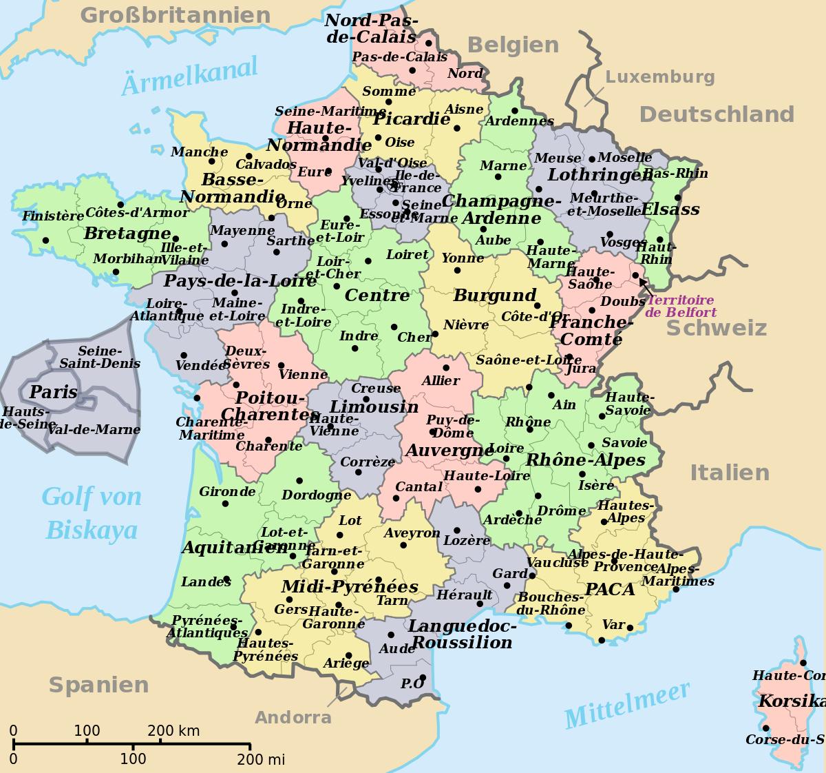 File:départements Régions (France) De.svg - Wikimedia Commons à Départements Et Régions De France