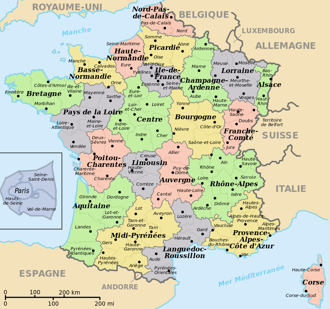 File:départements+Régions (France).svg - Wikimedia Commons à Carte Avec Departement
