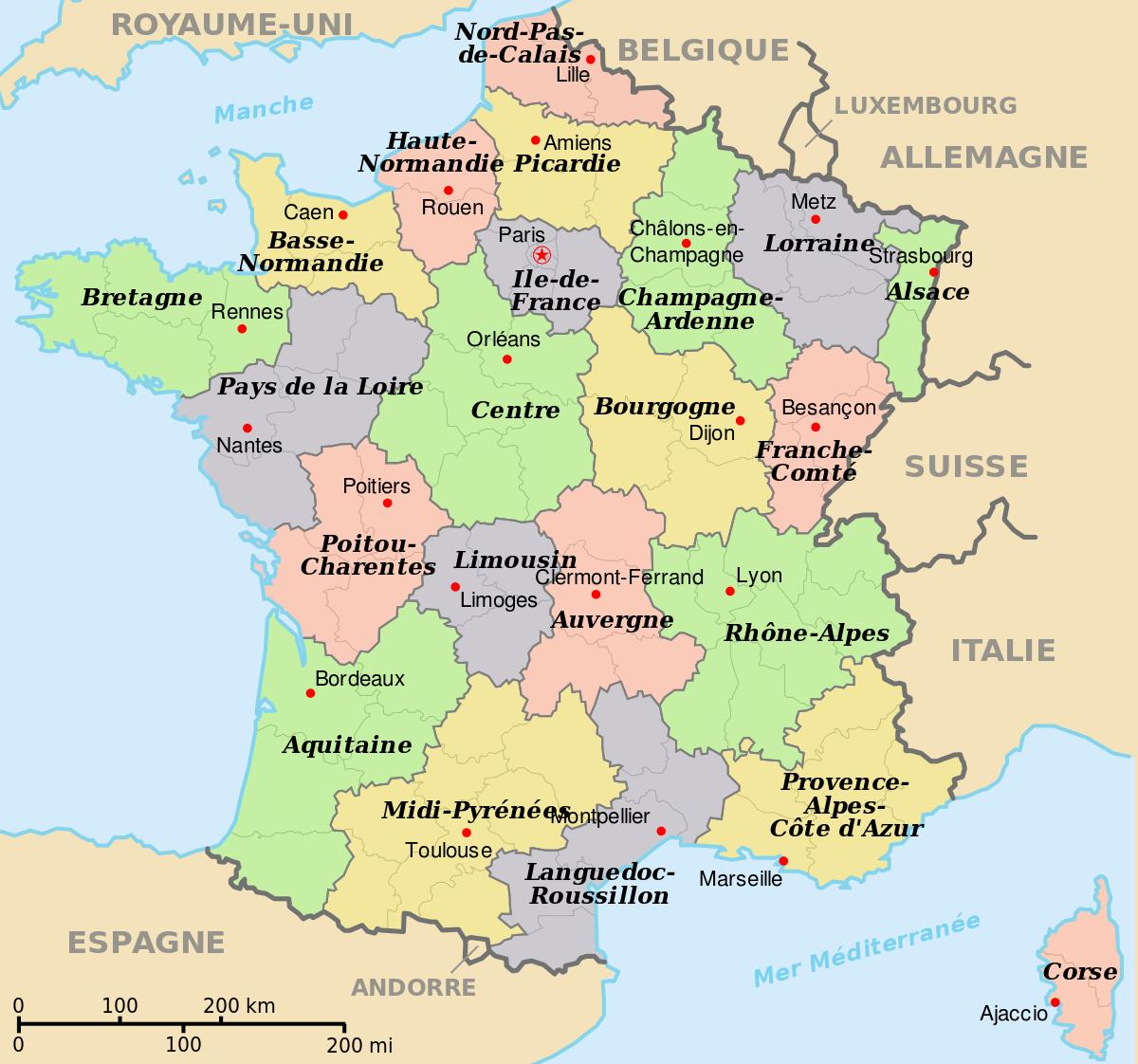 File:départements+Régions+Capitales(France).svg - Wikimedia à Départements Et Régions De France