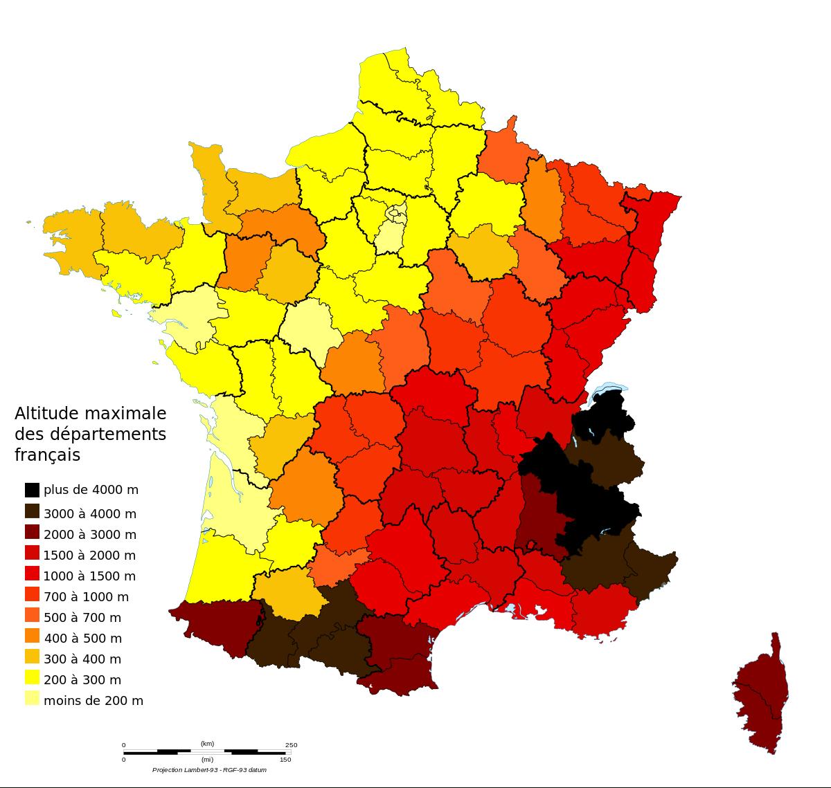 File:france Map Lambert-93-Maximum Altitude.svg - Wikimedia destiné Puzzle Des Départements Français