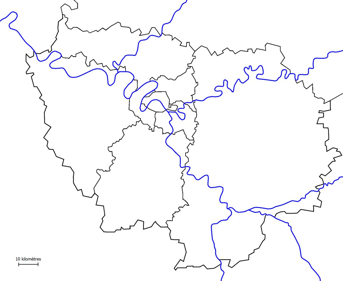 File:île-De-France (Fond De Carte) - Wikimedia Commons concernant Carte De La France Vierge