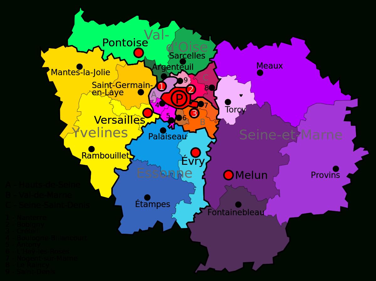 File:ile De France.svg - Wikimedia Commons encequiconcerne Carte De Region France