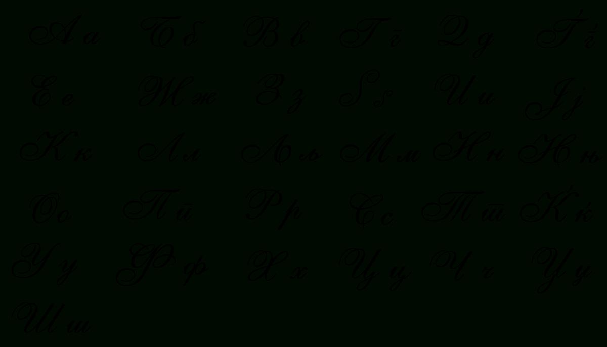 File:macedonian Cursive Script.svg - Wikimedia Commons dedans Alphabet Français Écriture