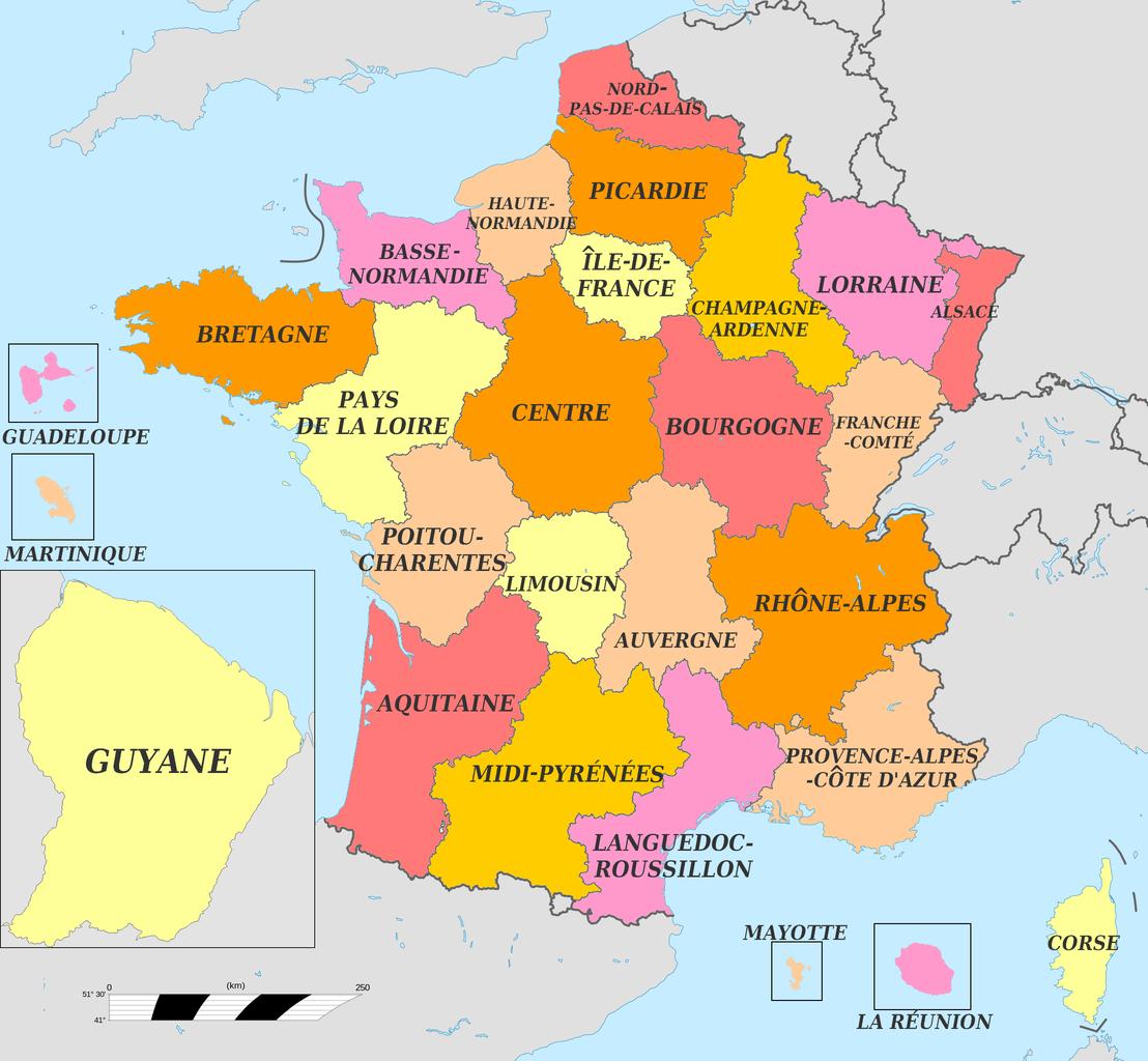 File:map Carte Des Anciennes Régions 2015 - Wikimedia dedans Carte Des Régions Françaises