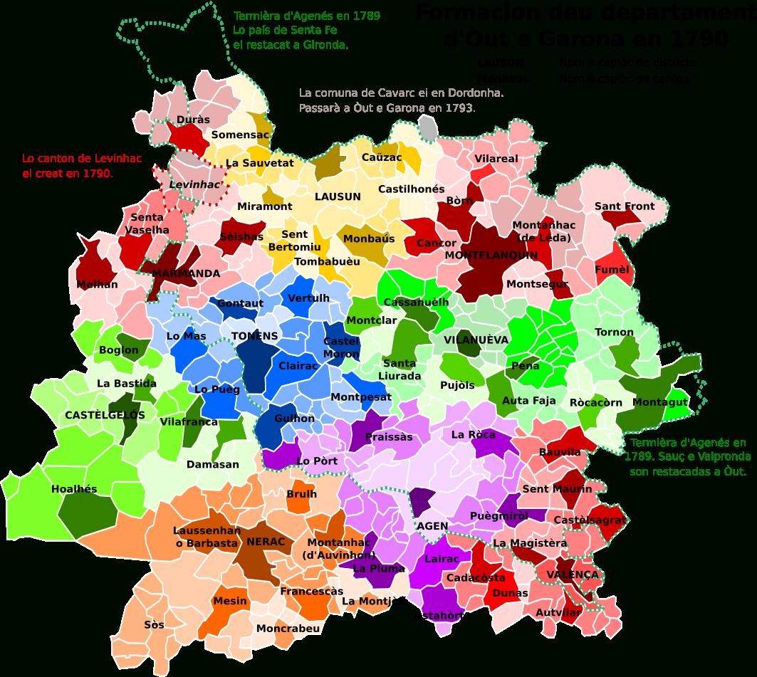File:map Of Lot-Et-Garonne Department, France, With pour Mappe De France