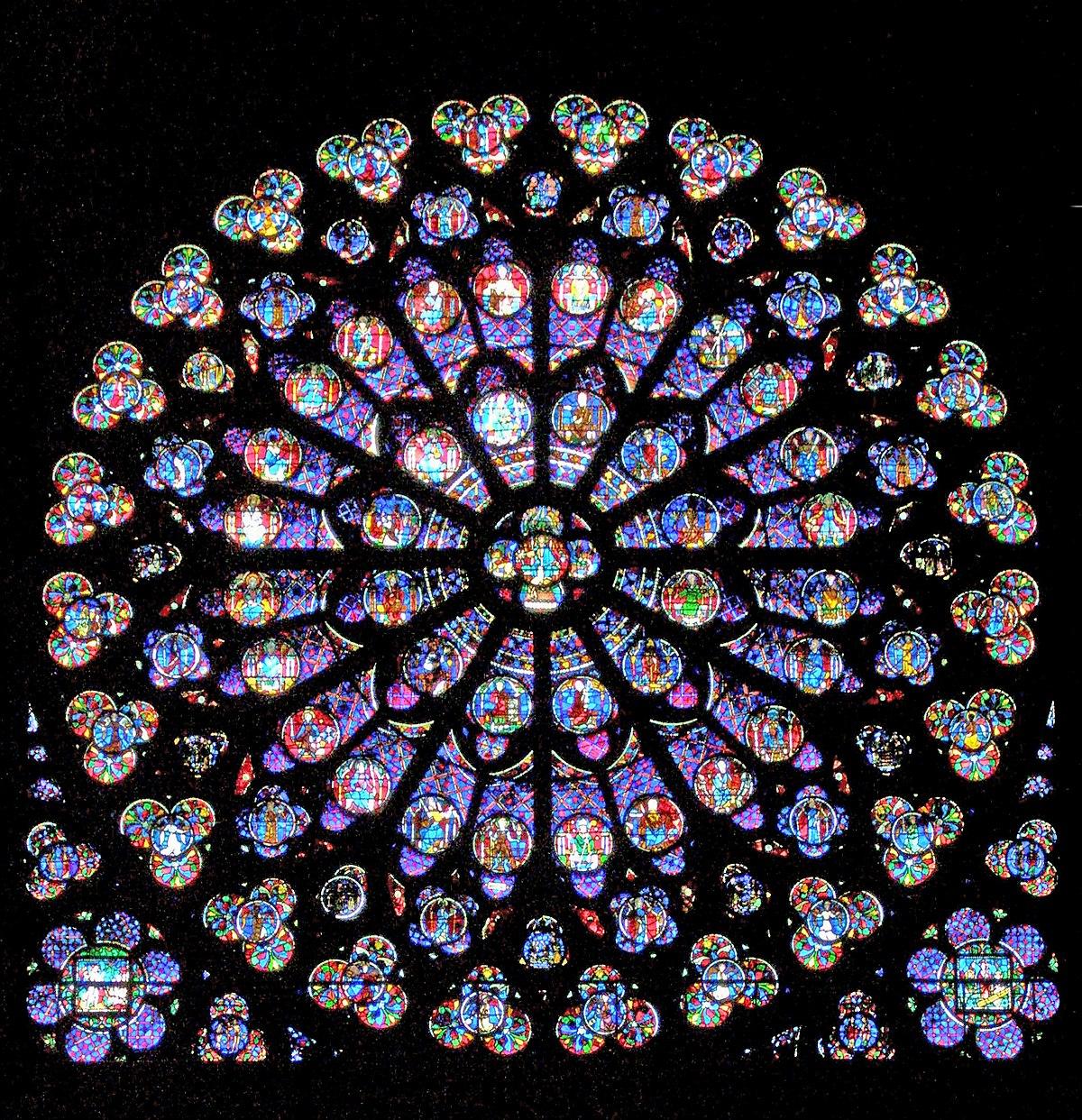 File:notre-Dame-De-Paris - Rosace Sud - Wikimedia Commons destiné Image De Rosace